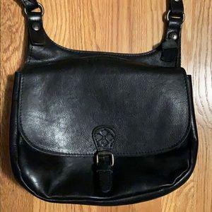 Patricia Nash Black Leather Crossbody Bag